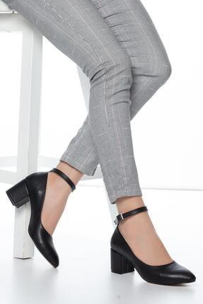 Muggo Siyah Kadın Klasik Topuklu Ayakkabı DPRGZHWY704