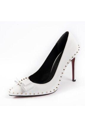 Kriste Bell Kadın Beyaz Klasik Topuklu Ayakkabı
