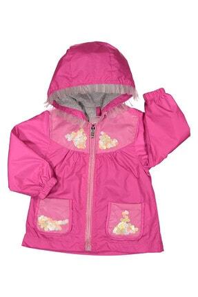 Midimod Kız Bebek Yağmurluk Mont Trençkot 6-24 Ay Fuşya M19111