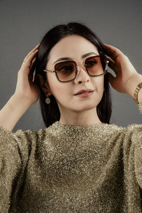 Polo Exchange Kadın Zincir Gold Detaylı Güneş Gözlüğü