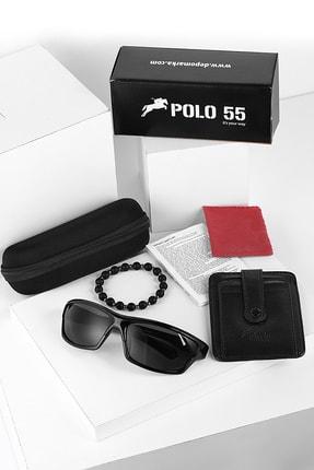 Polo55 Sporcuset Güneş Gözlüğü Kartlık Ve Bileklik Set
