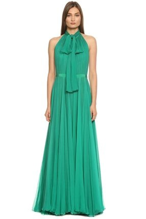 Alexander McQueen Yeşil Gece Elbisesi
