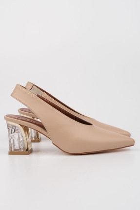 Marjin Kadın Bej Klasik Topuklu Ayakkabı Gazde