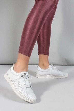 Fast Step Hakiki Deri Beyaz Kadın Casual Ayakkabı 934za105lzr
