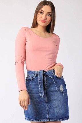Twister Jeans Kadın Tshırt Uzun Kollu Astarlı Tshirt 14623 Pudra