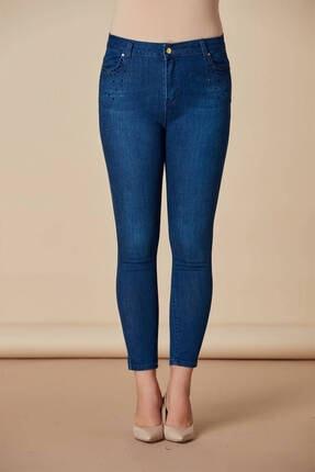Günay Kadın Pantolon Rg1339yk Jean Yüksek Bel Dar Paça-kim.mavi