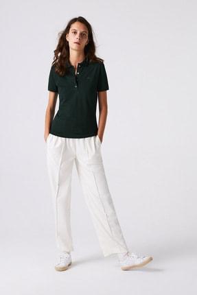Lacoste Kadın Slim Fit Yeşil Polo PF5462