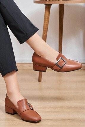 Mio Gusto Taba Toka Aksesuarlı Topuklu Ayakkabı