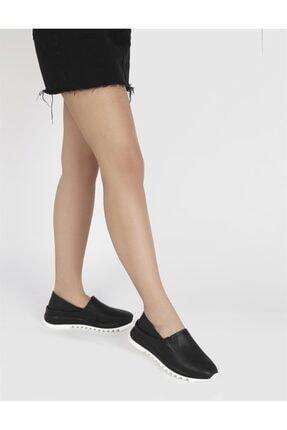İlvi Kadın Siyah Hakiki Deri Spor Ayakkabı