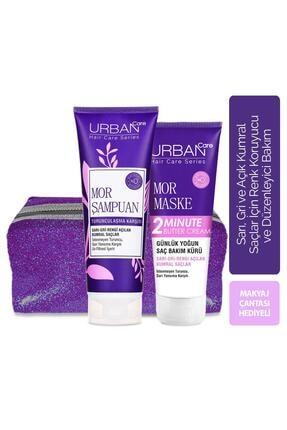 Urban Care Mor Şampuan Ve Maske Makyaj Çantası Hediyeli 2'li Set