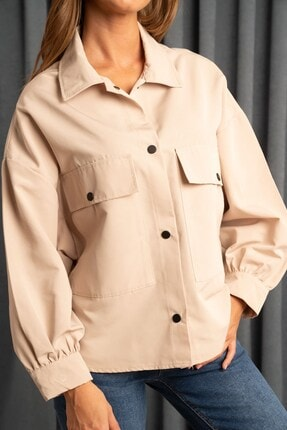Hadise Kadın Çift Cepli Yarasa Ceket Taş