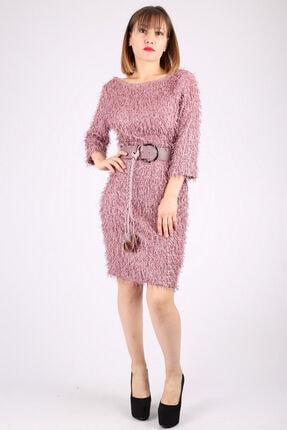 Günay Kadın Abiye Elbise Dns812 Kısa-pudra