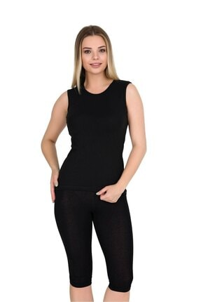 Berrak Kadın Kolsuz Body T-shirt Siyah | 4 Lü Paket