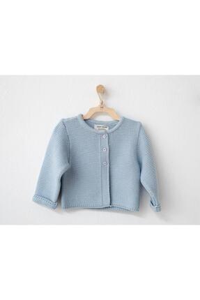 Andy Wawa Unisex Mavi Bebek Basıc Ceket Ac21256 Hırka