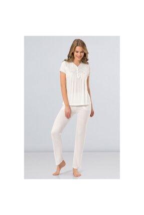 TÜREN Kadın Hazır Yaka Pijama Takımı 3236