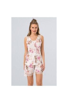 TÜREN Çiçekli Şort Takım Pijama Takımı - 3266