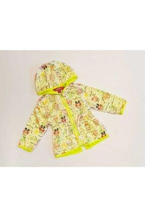 Midimod Kız Bebek Yeşil Dondurma Baskılı Yağmurluk