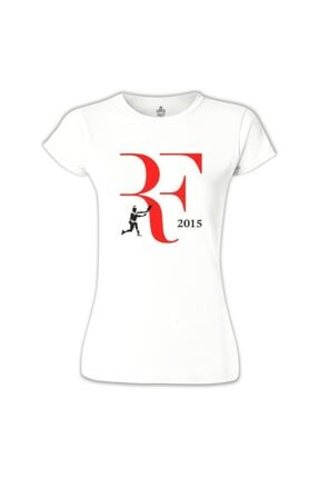 Lord Kadın Tennis - Federer 2015 Beyaz Tshirt