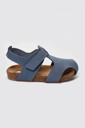 Sanbe Unisex Mavi Deri Sandalet
