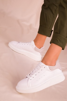 SOHO Beyaz-Buz Kadın Sneaker 15941