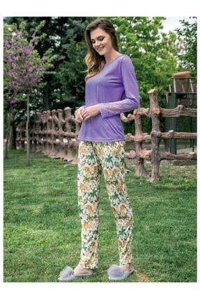 Yeni İnci Bpj 1332 Uzun Kol Pijama Takım Yeşil