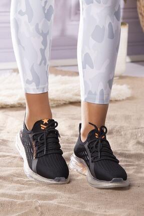 Guja Unisex Siyah Günlük Yüksek Taban Spor Ayakkabı