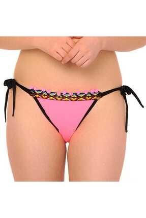 Reflections Pembe Kadın Skinny İpli Brasıl Bikini Altı 2253