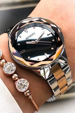 Homies Kadın Gümüş Kol Saati Bileklik Seti