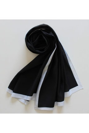 Eflatun Modal Ipek Şal - Siyah