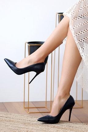Pembe Potin Lacivert Kadın Topuklu Ayakkabı A1770-17