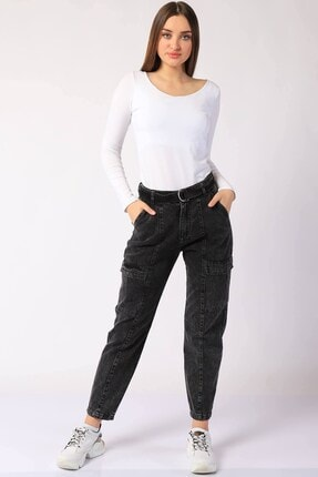 Twister Jeans Kadın Siyah Düz Pantolon Bp 9378-01