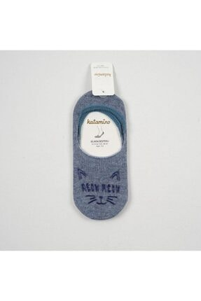 Katamino Kız Çocuk Mavi Babet Çorap