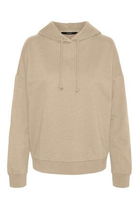 Vero Moda Kadın Beyaz Düşük Omuzlu Sweatshirt 10252959 Vmoctavıa