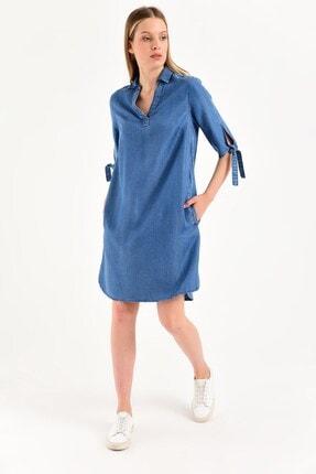 VENA Kadın Mavi Denim Elbise