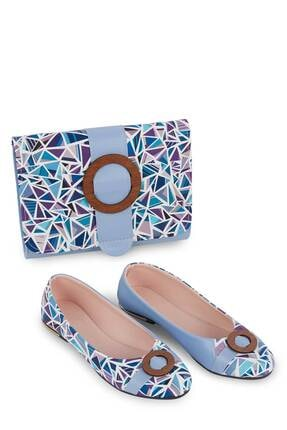 Gob London Mavi Kadın Babet Çanta Kombin 1015-111-0012_1010