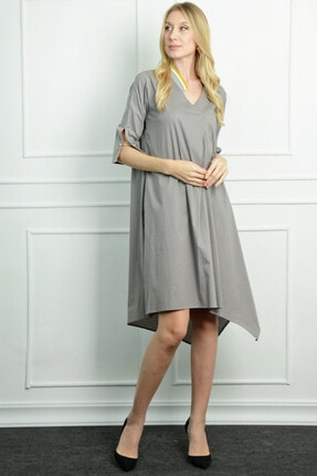 Herry Kadın Gri Elbise 20dmy1709