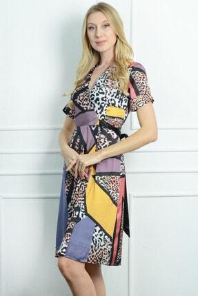 Herry Kadın Leopar Elbise 20dmy1716