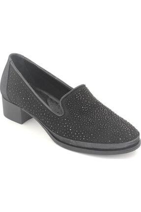 Venüs Kadın Siyah Hakiki Deri Klasik Topuklu Ayakkabı