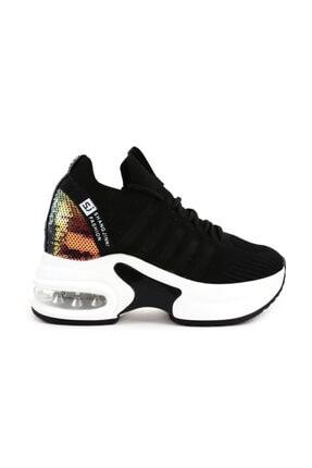 Guja 20k333-7 Kadın Aır Taban Bağcıklı Çorap Sneaker Ayakkabı 20k