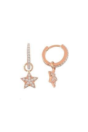 NK Rose Yıldız Küpe - 925 Ayar Gümüş