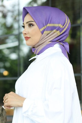 Afvente Kadın Çok Renkli Desenli Pamuk Eşarp