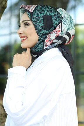 Afvente Kadın Siyah Desenli Pamuk Eşarp