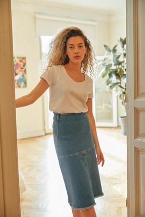 Love My Body Kadın Lacivert Jean Etek 56414 / Moda Tutkusu