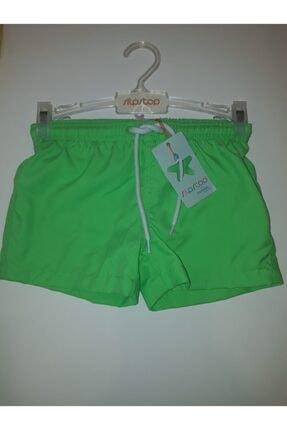 Slipstop Erkek Çocuk Neon Yeşil Şort Mayo