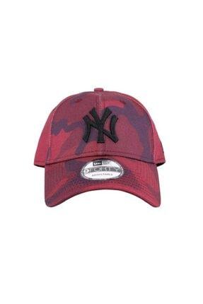 New Era Şapka - Camo Color 9forty New York Yankees Maroon Camo/black