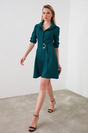 TrendyolMilla Petrol Kemerli Elbise TWOAW20EL0223