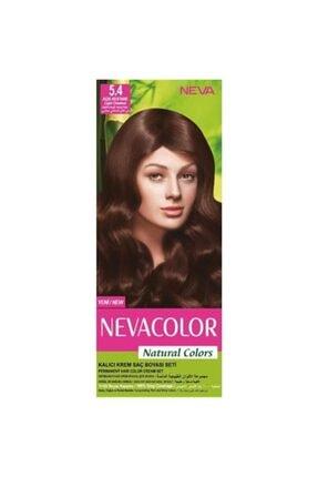 Neva Color Natural Colors Kalıcı Saç Boya Seti 5.4 Açık Kestane 8690057006555