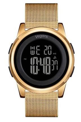 Vegans 1502 Hasırlı Dijital Erkek Kol Saati