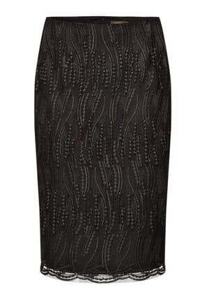 Faberlic Kadın Siyah Güpürlü Etek