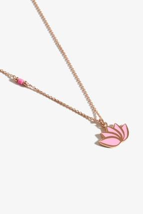 Lapidore Pembe Pure Love Lotus Rose Gold Kolye